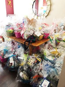 Delivery of Baskets for Hope