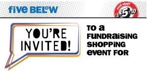 Cancelled - Five Below Fundraiser - Cary & Apex